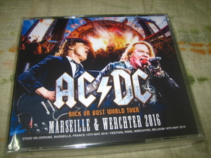 AC/DC with AXL ROSE - MARSEILLE & WERCHTER 2016 (4CD , BRAND NEW)