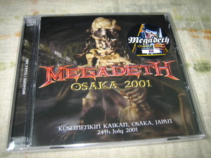 MEGADETH - OSAKA 2001 (2CD + bonus DVD , BRAND NEW)
