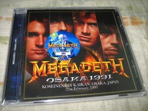 MEGADETH - OSAKA 1991 (1CD + bonus DVD , BRAND NEW)
