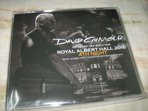 DAVID GILMOUR - ROYAL ALBERT HALL 2016 4TH NIGHT (3CD , BRAND NEW)